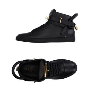 Buscemi 100mm black and gold sneakers